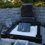 Headstone Black Granite Scrol