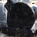 Headstone Black Granite Cross