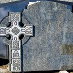 Headstone Green Granite Celtic cross