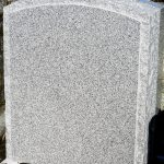 Headstone Grey Granite Boulder edge