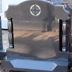 Headstone Black granite pillars