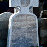 Headstone Grey Granite Celtic Cross