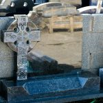 Granite headstone celtic cross