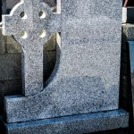 Headstone Grey Granite Cross
