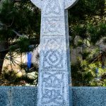 Headstone Grey granite tall celtic cross