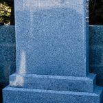 Grey granite large headstone