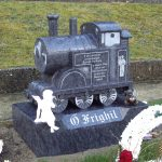 Bahama blue granite Train child memorial