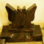 Headstone Aurora Butterfly granite