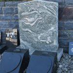 Grey granite headstone