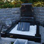 Headstone Black Granite Scrol