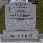 Ogee top, grey granite, with St Bridget cross detail