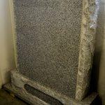 Headstone Grey Granite boulder edge
