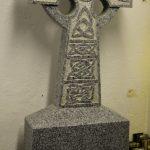 Headstone Grey Granite tall celtic cross