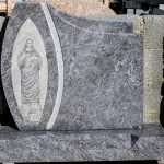 Headstone Bahama Blue Our Lord detail