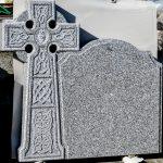 Headstone Grey Granite Celtic Cross Rope edge detai