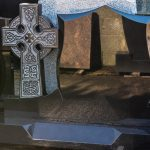 Headstone Black Granite Celtic Cross