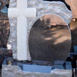 Headstone Black Granite cross boulder