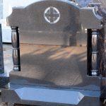 Headstone Black granite pillars