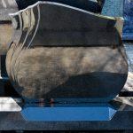 Black granite flame shield