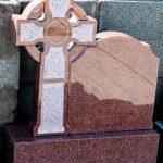 Headstone Red Granite Celtic cross