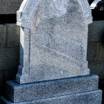 Headstone Grey Granite Curved Apex