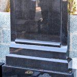 Headstone Large Black Granite Scroll