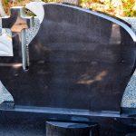 Headstone Black granite cross