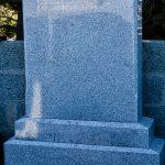 Grey granite large headstone