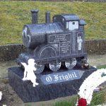 Bahama blue granite Train child memorial